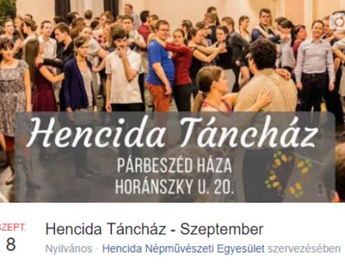 Hencida Táncház – 2017. szeptember 8.