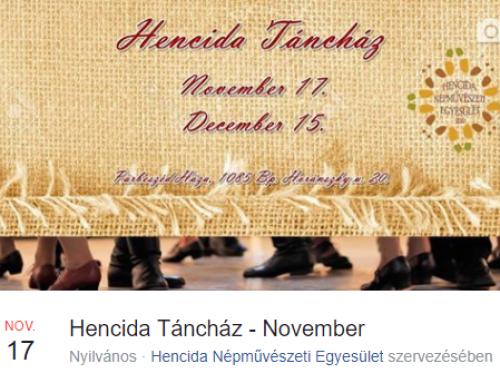 Hencida Táncház – 2017. november 17.