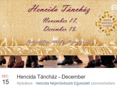 Hencida Táncház – 2017. december 15.